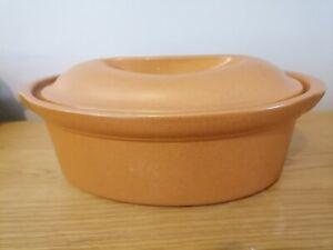 Vintage Emile Henry no.4 Stoneware Ovenware Casserole Lidded Dish Home Cookware