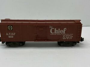 American Flyer 803 Santa Fe boxcar The Chief West Famous Daily Steamliner