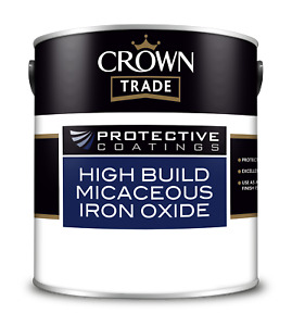 Crown Trade Protective Coatings High Build Micaceous Iron Oxide Paint 2.5L / GRE