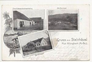 Altlengbach,Gruss aus Steinhäusel,1900 gelaufen