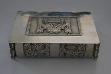 Bolivie 900 marquée argent Boîte à Cigare Cigarette Bijoux L D G A