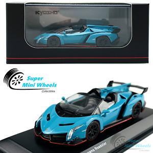 Kyosho 1:64 Lamborghini Veneno Roadster (Blue) - Diecast Model
