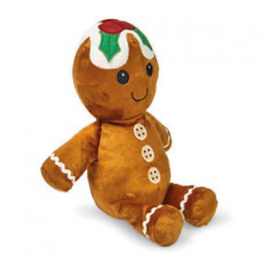 Petface Gingerbread Man Christmas Plush Squeaky Dog Toy Xmas Gift for Dogs