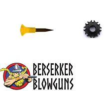 25 pack - .40 cal Spike Blowgun Hunting Darts with 8 pt Quiver by Berserker Blow