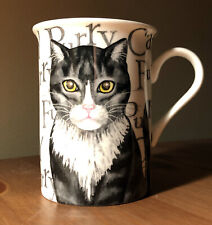 fine bone china porcelain ceramic mackerel tabby cat kitten kitty coffee cup/mug