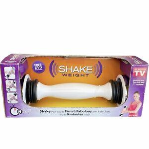 Shake Weight Exercise As seen on TV 2.5 Pound White Toner Instruction DVD