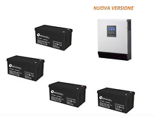 INVERTER 4KW ING. 6KW BANCO BATTERIE GEL 200Ah 3500 CICLI FOTOVOLTAICO SOLARE