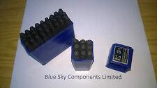 1.0mm numero & letter in acciaio 1.0mm A-Z & 0-9 Alfabeto Timbro Punzone modelli JEWELL
