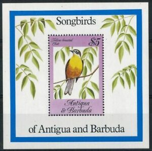 Antigua & Barbuda 1984 MNH MS, Yellow breasted Chat, Birds