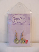 Yellow Baby Bird Chick Earrings New Russ Spring Bling Shiny Jeweled