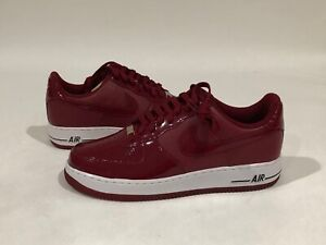 RARE 2010 HEAT NEW NIKE AIR FORCE LOW BURGUNDY MAROON PATENT LEATHER SZ 11