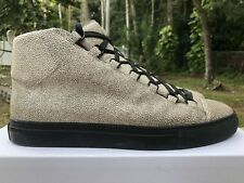 Balenciaga Leather High Arena Stingray Grey Sneaker Size: 44 Cendre Veau Pelle