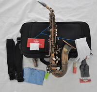 Professional TAISHAN Red Antique Soprano Bb curved sax Saxophone with case