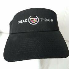 Cadillac Visor Hat Break Through Black With Crest Logo