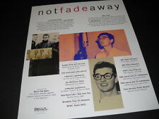 BUDDY HOLLY will NOT FADE AWAY 1996 Promo Poster Ad mint condition