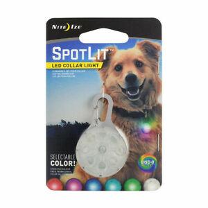 Nite Ize Spotlit Led Dog Collar Light With Disc-O Select Color-Changing Light