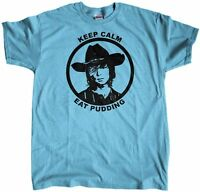 Men's Carl Grimes Keep Calm and Eat Pudding The Walking Dead Regular Fit T-Shirt