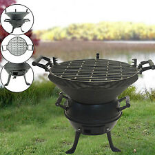 OUTDOOR FIREPIT PATIO HEATER CHIMINEA BBQ CAMPING GARDEN STOVE CAST IRON NEW