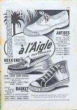 Publicité papier Chaussures L'Aigle août 1957 P1010627
