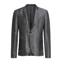 EMPORIO ARMANI GREY WOOL BLEND BLAZER JACKET COAT - Size 38 (IT 48)