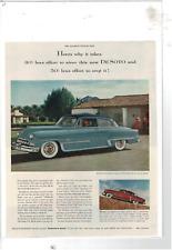 1953 DESOTO 2-DOOR COUPE/4-DOOR SEDAN FIRE DOME V-8/POWERMASTER 6 AD PRINT E834