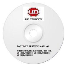 1999-2004 UD 1200 1400 1800 2000 2300 2600 3300 Repair Manual CD 2002 2003 004V