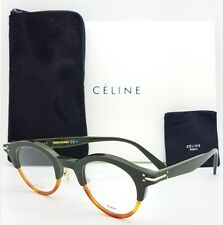 NEW Celine Rx Frame CL 41421 T75 45mm Green Havana AUTHENTIC Classic Mens Womens