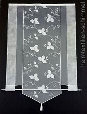 Scheibengardine Gardine Scheibenhänger Panneaux Vorhang weiß B=78cm H=121cm