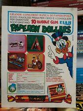 Paperon dollars locandina pubblicitaria anni 70   disney in cartoncino- topolino