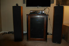 B&W Bowers Wilkins Nautilus 803 Stereo Speakers Maple Color Excellent Condition!