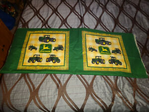 VINTAGE PAIR OF DOUBLE SIDED PILLOW PATTERNS JOHN DEERE