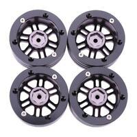 4Pcs 1/10 RC Crawler Metal Alloy 1.9in Wheel Rim BEADLOCK for 1/10 Axial SCX10