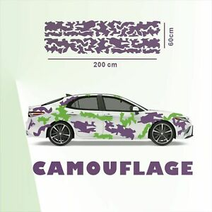 Camouflage Set Auto Aufkleber Sticker Tuning Autoaufkleber Flecktarn Tarnmuster