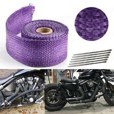 4.5M Purple Car Motorcycle Exhaust Pipe Header Heat Wrap Resistant Downpipe