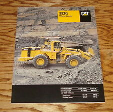 Original 1999 Caterpillar 992G Wheel Loader Sales Brochure 99 Cat