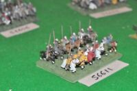 15mm medieval / english - men at arms 12 figs - cav (56611)