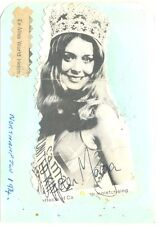 Helen Morgan signed autograph album page 1974 Welsh model Miss World winner