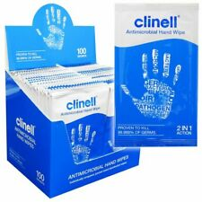CLINEL HAND WIPES - BOX OF 100 SACHETS