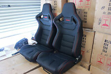 2 x Recaro Euro 2 seat in Ultra hard wearing PVC.Red stitching
