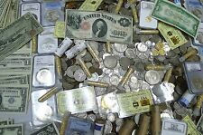 10 COIN LOT FROM HUGE ESTATE BUY! WWII,ANCIENT,1800'S,BARBER, SILVER BONUS!!!!