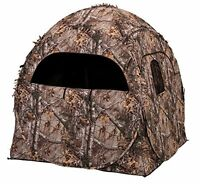 Evolved Ingenuity 1RX2S010 Hunting Doghouse Ground Blind, Camo Pattern, 60 x 60
