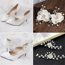 Pearl Wedding Shoe Decorations Shiny Decorative Clips Charm Buckle Shoe Clip