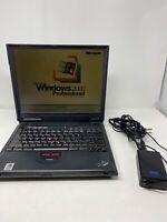 IBM ThinkPad A21m Type 2628 2628G2U Laptop 18GB Windows 2000 Pro Floppy Drive