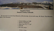 Sapphire Point  Summit County CO Limited Edition Signed & # Print Terrence Glynn