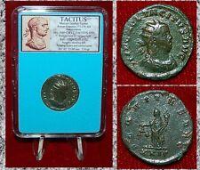Ancient Roman Empire Coin TACITUS Aequita Holding Scales Reverse Antoninianus