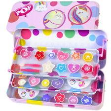 Super Girls POP Kinder Einhorn Beauty Kosmetik Lipgloss Schminke SET 30 teilig