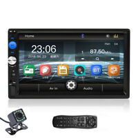 7'' Double Din Car Radio MP5 Multimedia Player Bluetooth FM USB w/ Backup Camera