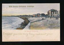 Somerset BURNHAM The Esplanade Xmas overprint Used 1904 PPC local pub H Mounter