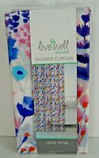 Live Well Home Peva Vinyl Shower Curtain Multi-colored Floral 70 x 72