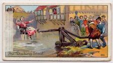 English Dunking Stool Punishment Middle Ages Custom 1920s Trade Ad Card